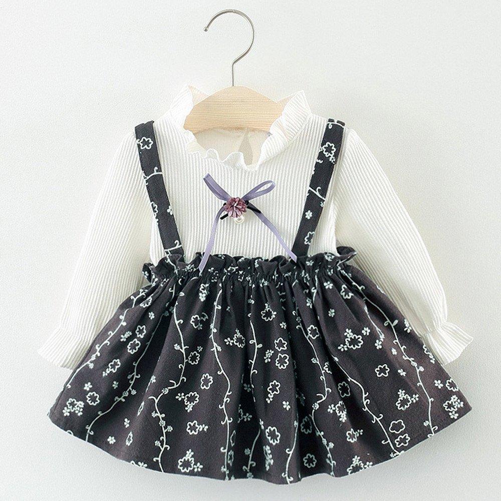 8e516366d Amazon.com  Baby Girls Cute Floral Dresses Newborn Infant Flower ...