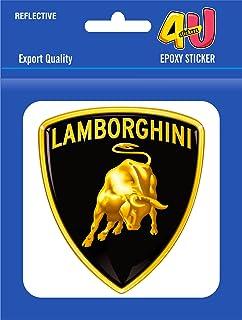 Lamborghini Black Golden 3d Car Auto Emblem Badge Sticker Decal
