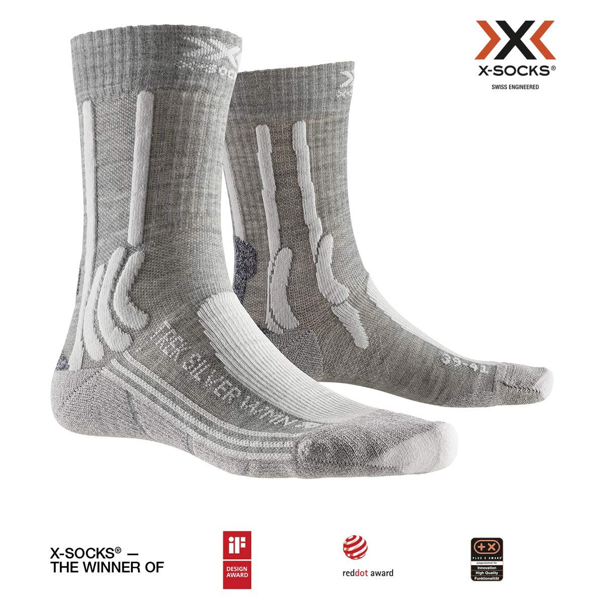 Donna X-Socks Trek Silver Women Socks