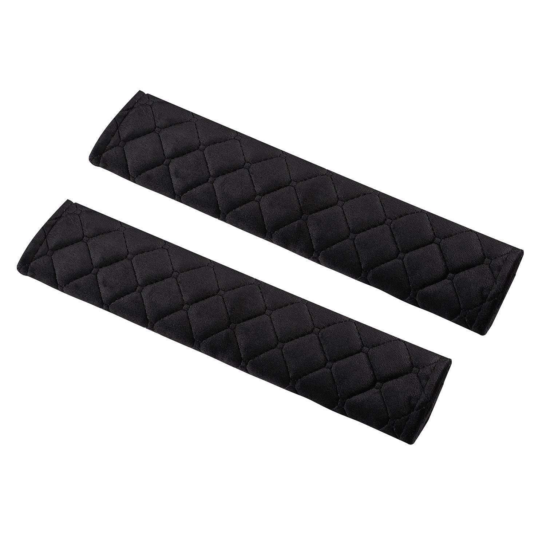Nero 2 Pezzi Cikuso Cintura di Sicurezza Pad Morbido E Confortevole per Proteggere Collo E Le Spalle Seat Cinghia Spalla della Copertura della Cinghia per Auto//Bag Cintura Pad