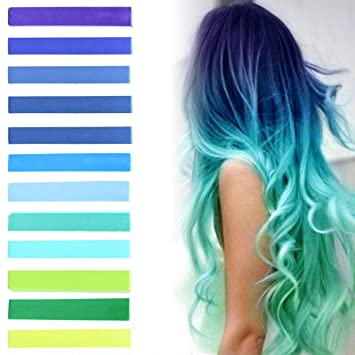 Amazon Com Best Green Blue Hilary Duff Ombre Hair Dye Set Of 12
