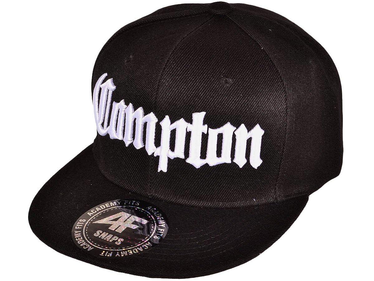 AF Snaps Compton Viejo Inglés Negro Ajustable Gorra/Cap: Amazon.es ...