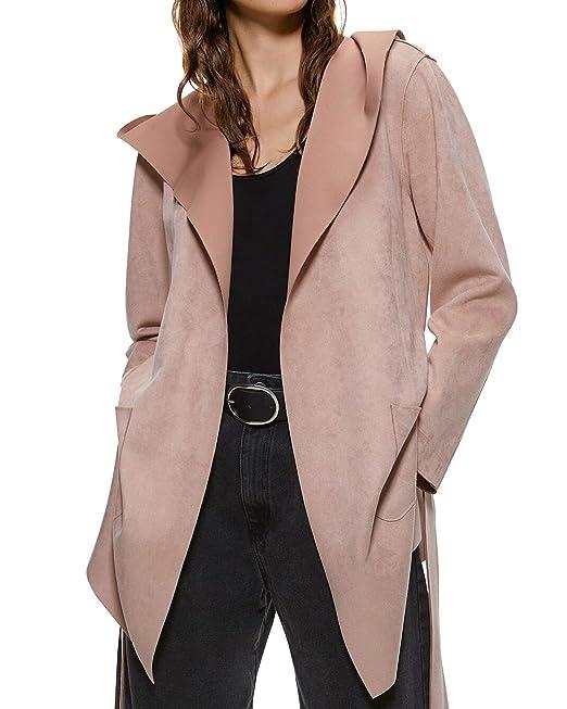 Zara 3046/240 - Chaqueta para Mujer (Piel sintética) Rosa S ...