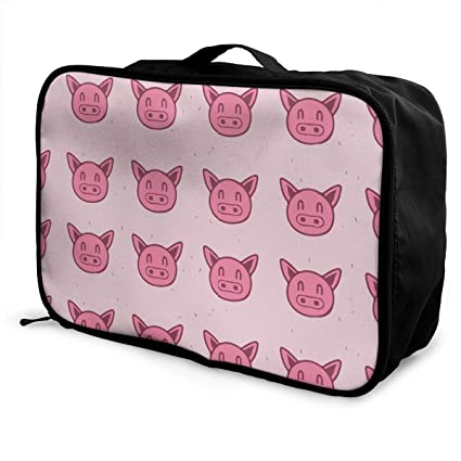 25d1cf55bd4b Amazon.com | Women & Men Foldable Travel Duffel Bag Pink Funny Cute ...
