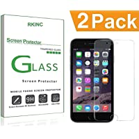 Bundle of 2, RKINC for Apple Iphone 6 6S Plus Screen Protector, Crystal Clear Tempered Glass Screen Protector [9H Hardness][2.5D Edge][0.33mm Thickness][Scratch Resist] for Apple Iphone 6 6S Plus