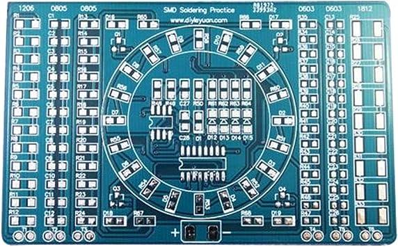 SMT SMD Component Weld Welding Practice Blue PCB Board Soldering DIY Tool Set
