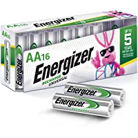 Energizer Rechargeable AA Batteries NiMH 2000 mAh 16 Count