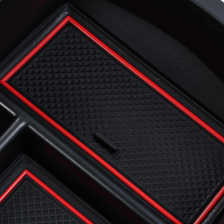 Carrfan Auto Mittelarmlehne Aufbewahrungsbox Mittelkonsole Organizer Aufbewahrungsbox Halter Organizer Fach Ersatz F/ür Peugeot 3008 GT 2016-2019