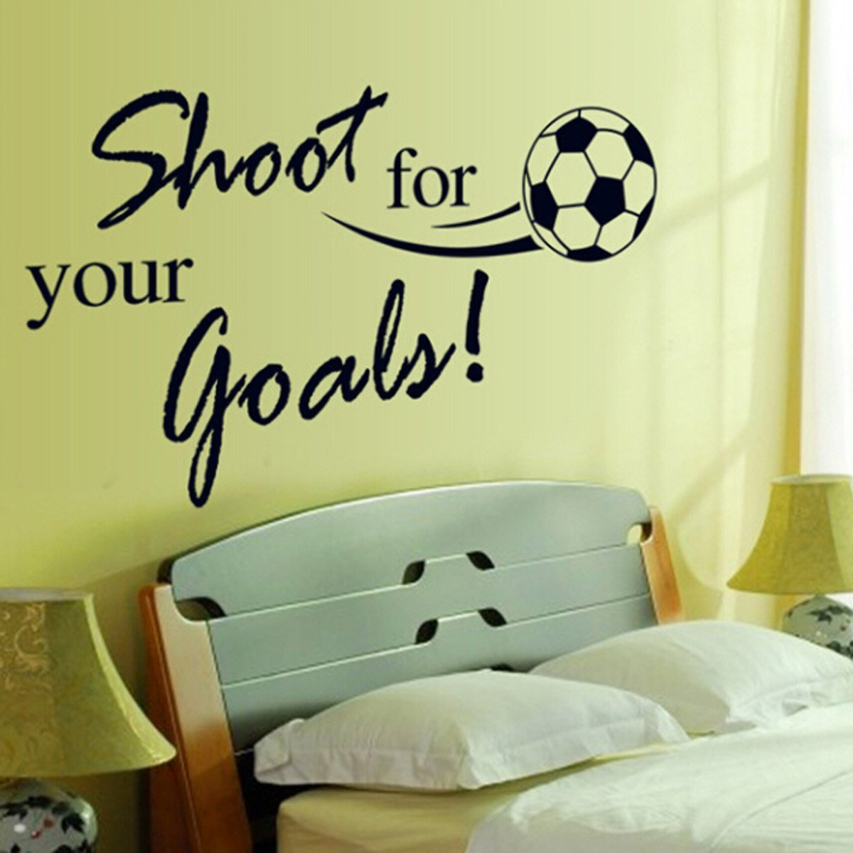 Amazon.com: FunToSee Soccer Balls Nursery and Bedroom Wall Decals ...