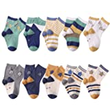 Baby Boys Toddler Non Skid Cotton Socks with