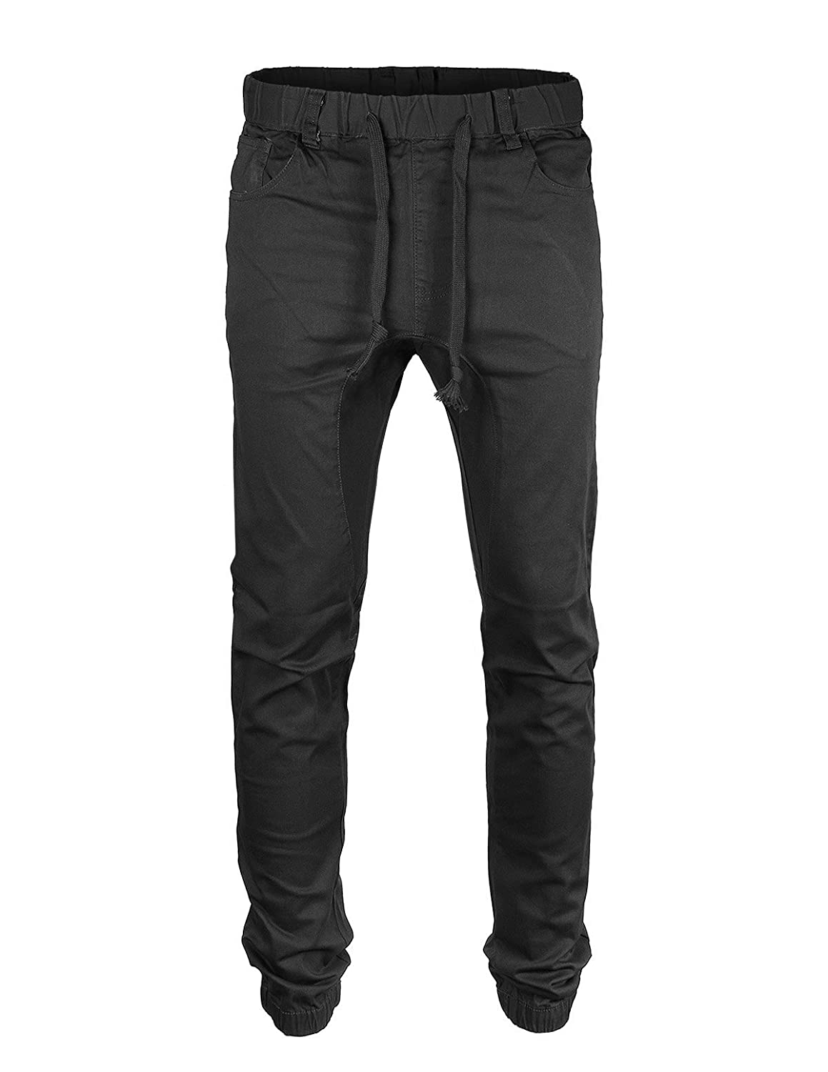 d3eb9b2efd Elastic cuffed bottom hem and waist with drawstrings. Drop crotch jogger  with two side pockets and two back pockets. Sizing = SMALL: WAIST 30-32 |  MEDIUM: ...