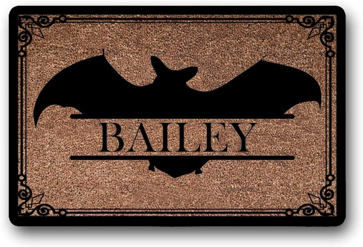 LSS Trading Bat Personalized Doormat, Bat Doormat, Halloween Doormat, Custom Doormat, Wedding Gift, Closing Gift, Housewarming Gift, Welcome Mat 18 x 30