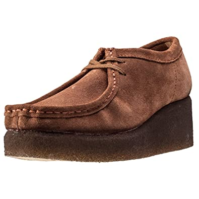 Clarks Originals Womens Peggy Bee Platform Moccasin Cola Suede Shoes 9.5 US