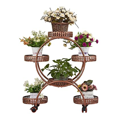 225 & Amazon.com : Multi-Tier Flower Pot Stand With Wheels 6 Tier Large ...