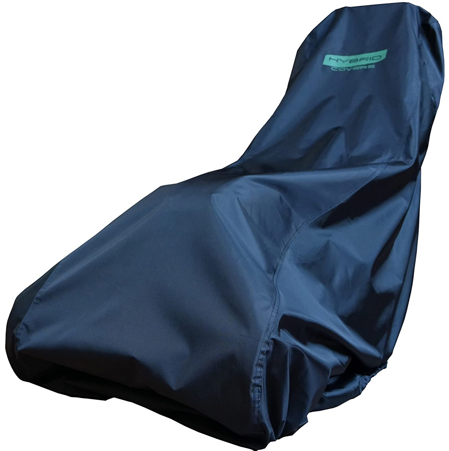 Lawn Mower Cover - Black, Water Resistant & UV Protected Cover for Your Push Lawn Mower - Universal Fit with a Draw String to Secure the Cover to Your Machine - Suits Most Mowers Small to Large - Protect Your Investment From the Elements Hybrid Covers