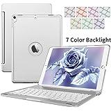 Custodia Per Tastiera iPad Pro 10.5, Dingrich Alluminio 7 Cassa Astuta Con Copertura Astuccio Senza Fili Della Tastiera Bluetooth con Supporto Per iPad Apple Pro 10,5 Pollici, Argento