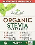 Sweet Leaf Stevia Organic Sweet Leaf Stevia Packets - 70 ct, 2 oz