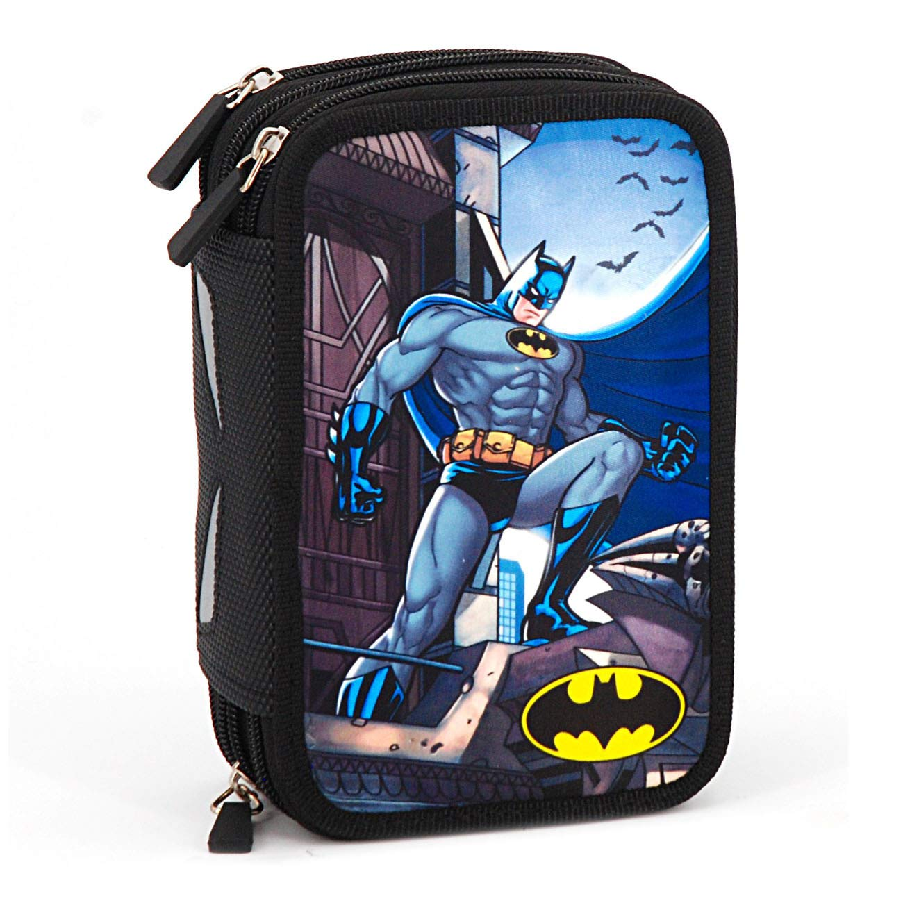 Batman e Justice Leaugue - Astuccio Scuola 45 Pezzi 3 Cerniere CARTOON WORLD