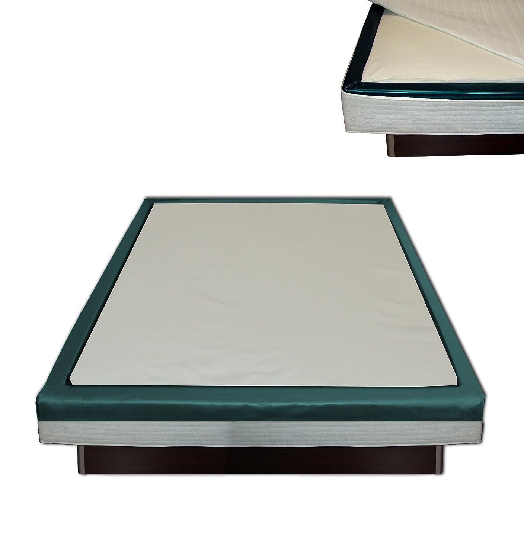 Orthopädischer Visco Softside Wasserbett Viscotopper 2 cm mit Piqué-Bezug (160 x 200 cm)