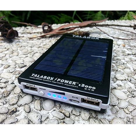 Amazon.com: talabox 15000 mAh Cargador Solar portátil Negro ...
