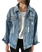 Women Basic Coats Spring Summer Women Denim Jacket NEW Vintage Long Sleeve Loose Girls Outwear Female
