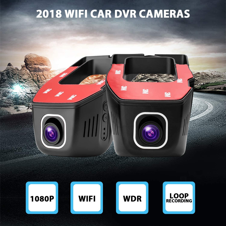 Metermall 1080P Mini WiFi Car DVR Cameras Dash Cam Video Recorder Car Cameras DVR App Control Upgraded Chip LT8724 Loop Video