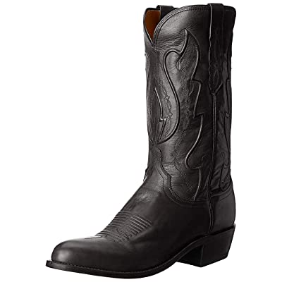 Lucchese Bootmaker Men's Cole Western Boot, Black, | Western