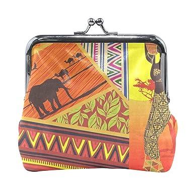 Amazon.com: Monedero para mujer, diseño de elefante de ...