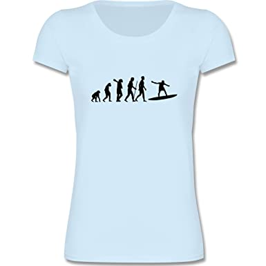 bdfecf6b989c Shirtracer Evolution Kind - Surfer Evolution - Mädchen T-Shirt T-Shirts   Amazon.de  Bekleidung