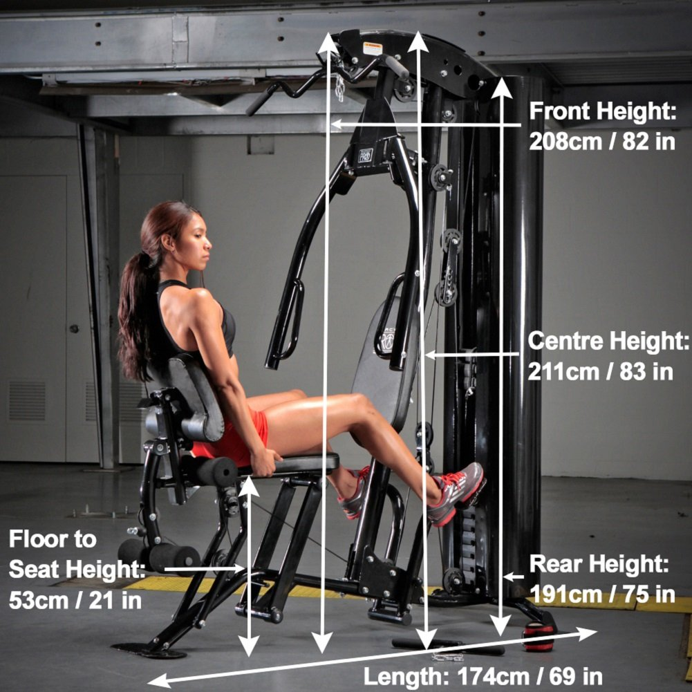 Marcy Eclipse HG7000 Home Gym with Leg Press: Amazon.co.uk: Sports ...