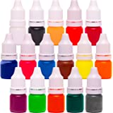 16 Liquid Colors for Soap Coloring and Bath Bombs (0.17 oz 16 bottles) - Soap dye-Soap Making Colorants Set
