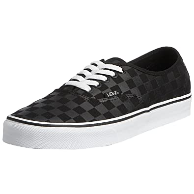 vans checkerboard authentic black