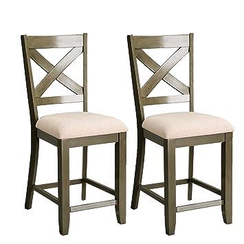 Brilliant Amazon Com Standard Furniture 16694 2 Pack Barstool 19 W Spiritservingveterans Wood Chair Design Ideas Spiritservingveteransorg