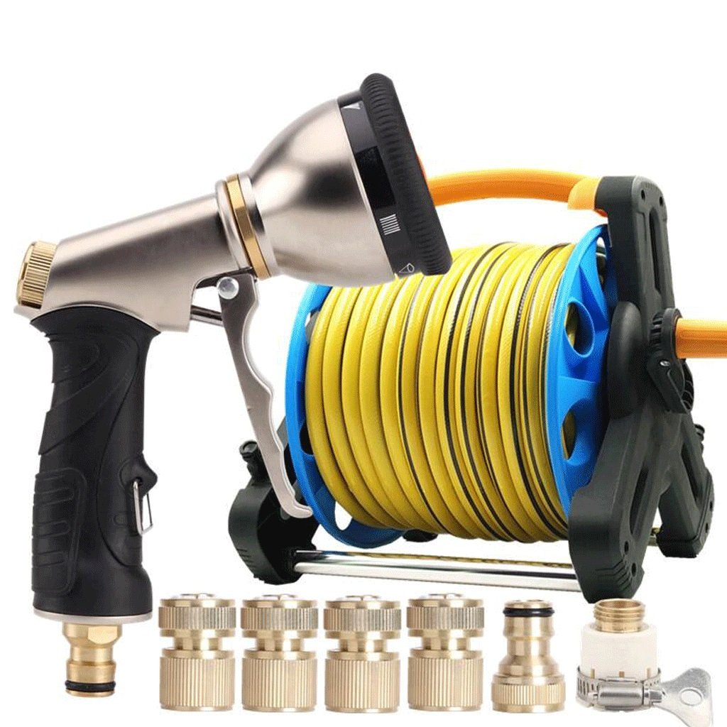 Hongyan Watering Can Garden Hoses Nozzle Reels 9 ways Showers Car Cleaning Flower Watering Spray Supplies Garden Car Wash Watering Equipment nozzles Spray Guns Drip Systems(35M) A+ (Size : 20M)
