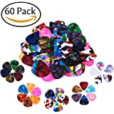 Zhovee 60 Pack Abstract Art Colorful Guitar Picks, Unique Guitar Gift For Bass, Electric & Acoustic Guitars Includes 0.46mm, 0.71mm, 0.96mm