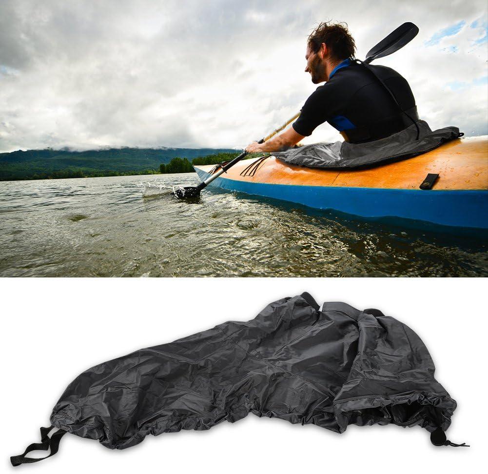 t-best Kayak Sprayskirtカバー、ユニバーサルナイロンMarineボートCanoe KayakスプラッシュスプレースカートデッキSprayskirt防水カバー グレー