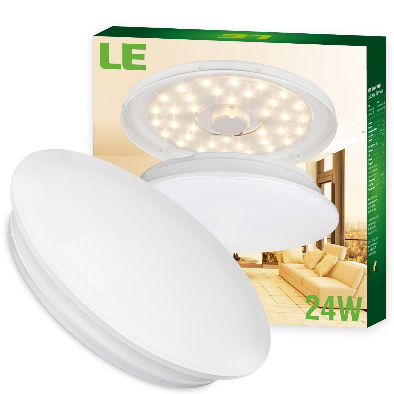 LE 24W Deckenleuchte Ø41cm ersetzt 180W Glühbirne (50W ...