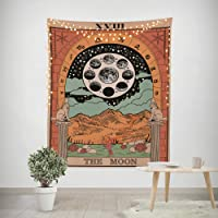 Third Goddess Tarot Tapestry, Sun Moon Style Design Decorative Wall Hanging Art Sets 50 x 60 Inches for Home Office…