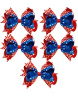 usa 4th of july 5 inch loopy hair bow by girl