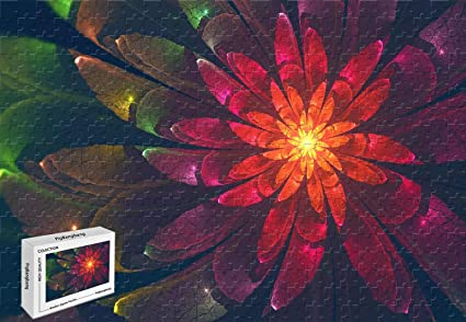 Amazoncom Pigbangbang206 X 151 Inch Wooden Fractal Flower K