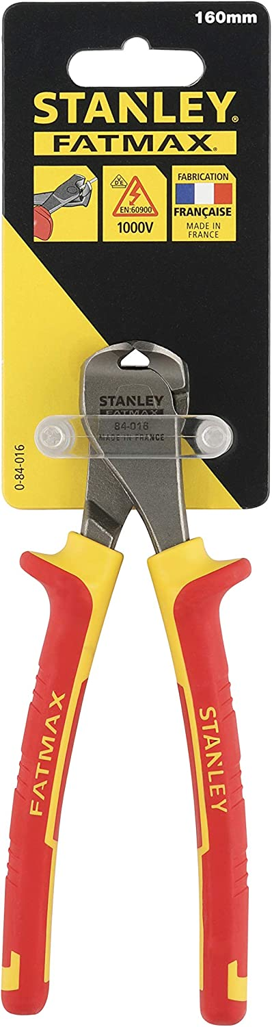 Stanley 0-84-016 End Cut Plier MaxSteel VDE Red//Yellow