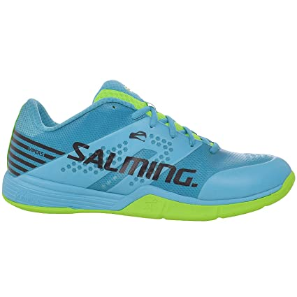87369027a9fed Salming Mens Viper 5 Sports Indoor Court Trainers - Blue Green - 9US