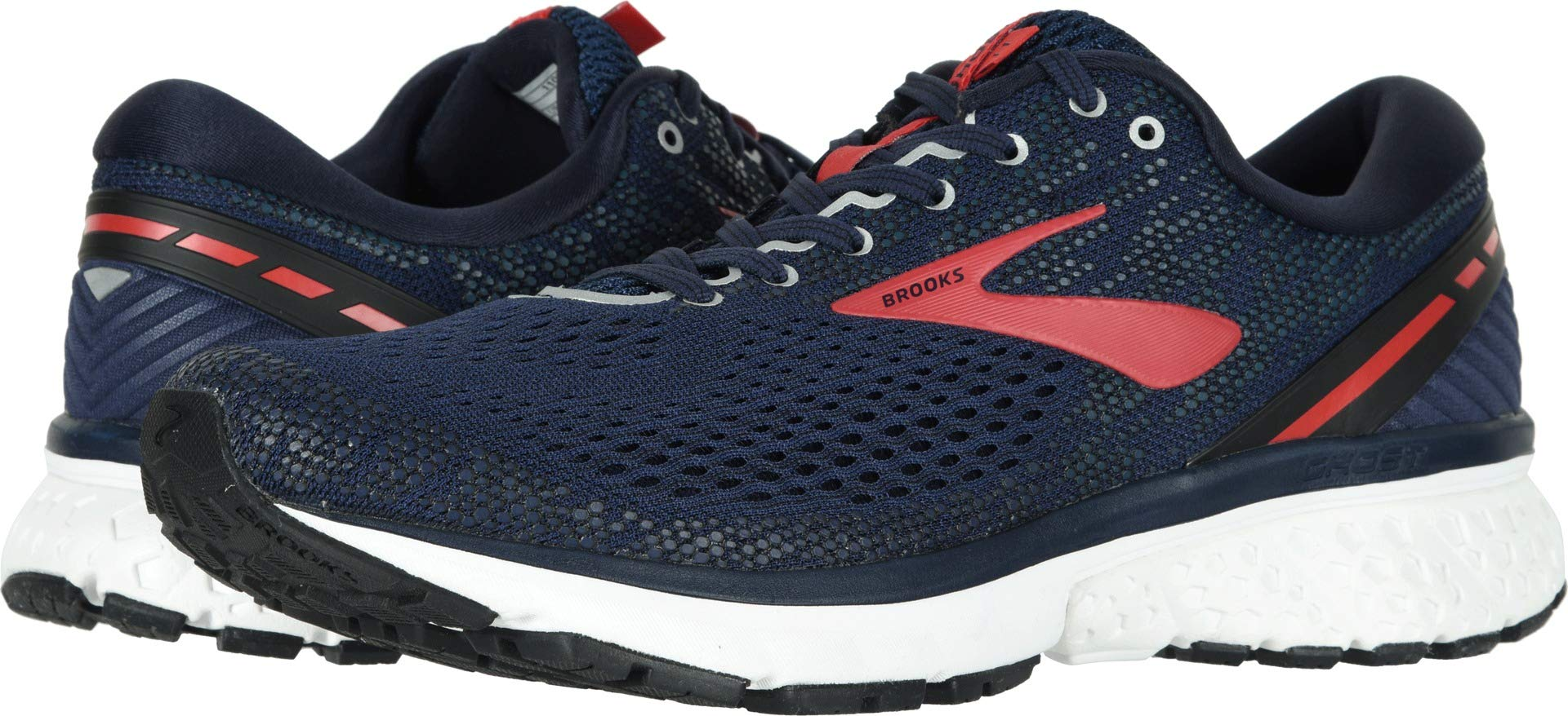 Brooks Men's Ghost 11 Navy/Red/White 10.5 D US