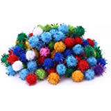 KOIPLUS Assorted Color Sparkling Balls My Cat's All-Time Favorite Toy, 20 Pieces