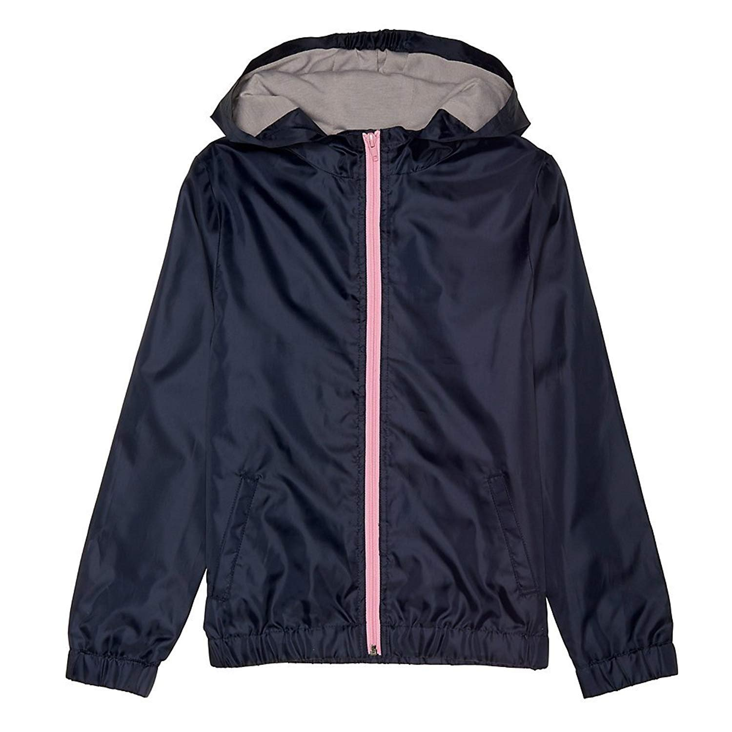 French Toast Big Girls' Windbreaker, Navy, L (10/12) by French Toast