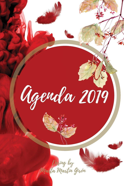 Agenda 2019: Diseño exclusivo. Interior blanco y negro ...