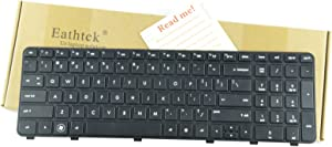 Eathtek Replacement Keyboard with Frame for HP Pavilion DV6-6000 DV6-6096NR DV6-6097NR DV6-6106NR DV6-6108US DV6-6111NR DV6-6114US DV6-6120US DV6-6150US DV6-6160US Black US Layout