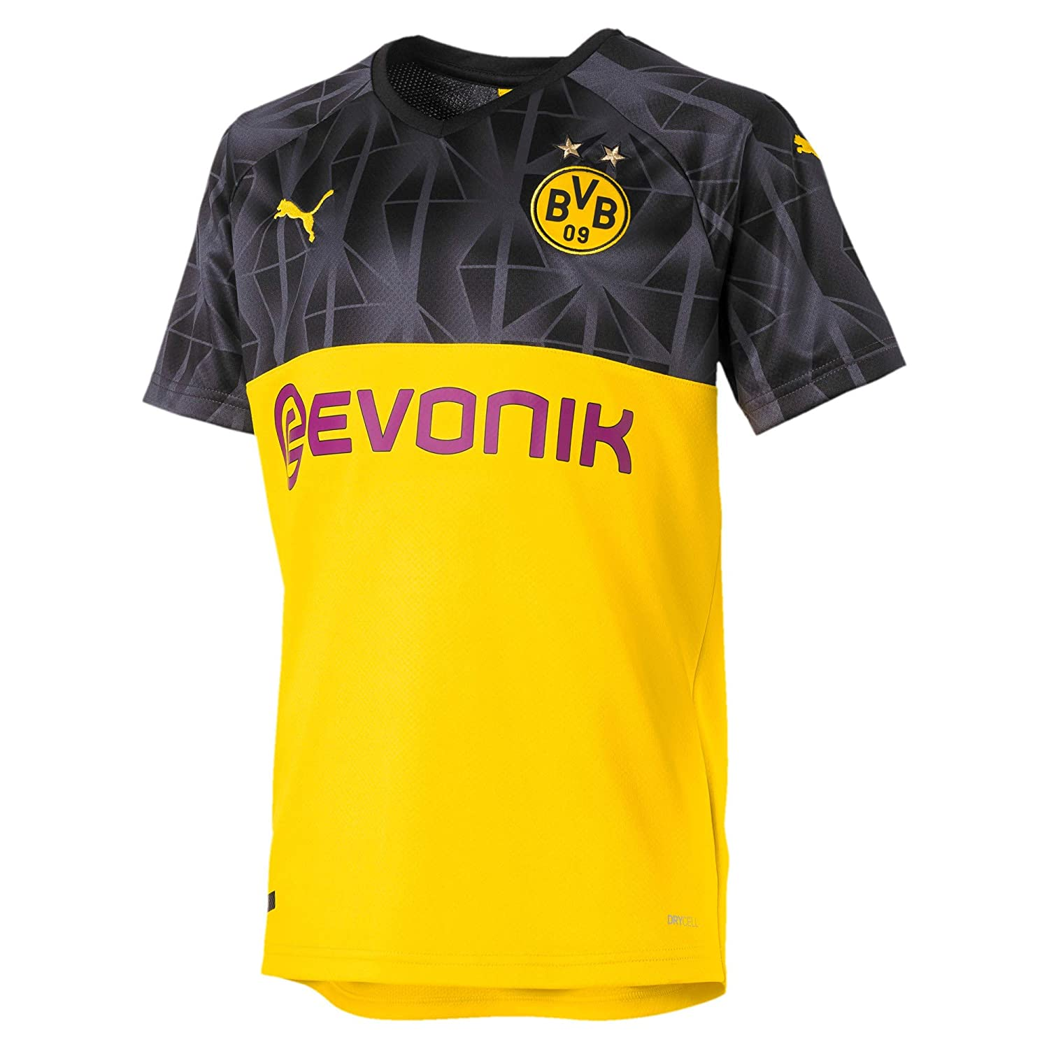 PUMA BVB Cup Shirt Replica with Evonik Without Opel Logo Maillot Hombre