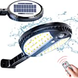 Luz Solar Exterior, LOZAYI Foco Solar con Sensor de Movimiento, Lamparas Solares con Mando a Distancia, 3 Modos de…