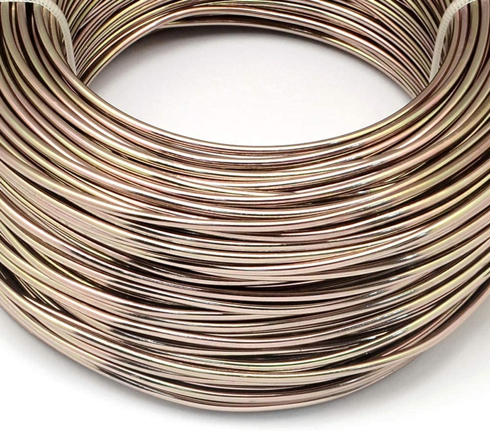 Fashewelry 918 Feet 0.5-0.6mm Aluminum Wire Red Bendable Metal Craft Wire for Beading Jewelry Craft Making